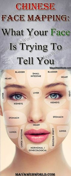 Acupressure Treatment Chinese Face Mapping: What Your Face Is Trying To Tell You – MayaWebWorld Chinese Face Map, Chinese Face Reading, Doterra Acne, Digestive System Problems, Massage Images, Acupressure Treatment, Face Mapping, Massage Benefits, Face Skin Care