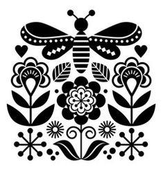 Outline Designs, Scandinavian Folk Art, Succulent Gardening, Floral Motif, Flower Patterns, Vector Art, Stencils, Art Prints, Creative