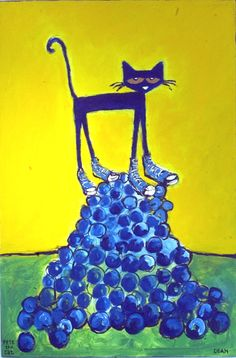 Pete the Cat. Goodness, no! He's not crying!