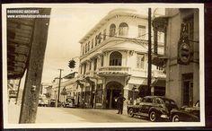 MAYAGUEZ, P.R. Street Scene showing Hotel America and Restaurant La Bolsa - Unused c. 1940's | Flickr - Photo Sharing!