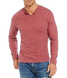 Cremieux Jeans Henley Long-Sleeve Tee