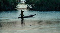 Atardecer Río Níger Mali