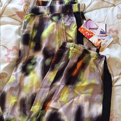 NEW LIGHTWEIGHT PANTS SZ M Colorful lightweight pants. Sz M. New from Nordstrom. Has a cool tux black strip down sides. Stretch waist & hems. Pants Track Pants & Joggers