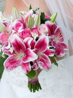 Ideas for wedding flowers pink lillies rose bouquet Bridal Bouquet Pink, Pink Rose Bouquet, Purple Wedding Bouquets, Wedding Flower Arrangements, Bridal Flowers, Flower Bouquet Wedding, Wedding Dresses, Flower Bouquets, Wedding Shoes