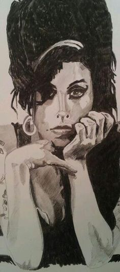 Jack Melville drawing Amy Winehouse