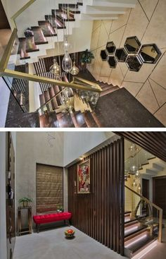 Staircase Design, Staircase Ideas, Dream Home Design, House Design, Television Console, Living Area, Living Spaces, Stairwell Wall, White Nightstand