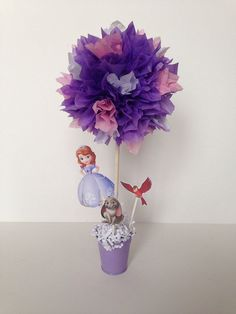 Sofia the first birthday party decoration, Sofia the first centerpieces by AlishaKayDesigns