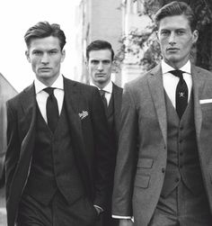 Saturday Weddings. Charcoal Chelsea Suit by Hackett London