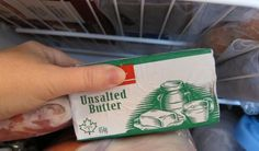 Thaw that butter fast and waste no energy! Unsalted Butter, Container, Ice, Good Things, Cold, Green, Easy, Ice Cream