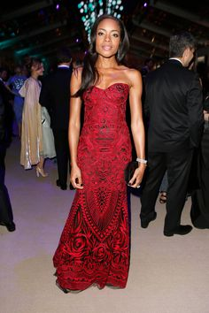 Naomie Harris in Naeem Khan at Oscars After-Party 2014