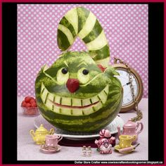 Dollar Store Crafter: Turn A Watermelon Into The Cheshire Cat From Alice In Wonderland