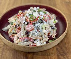 Μακαρονοσαλάτα με σάλτσα τυριών | Συνταγή | Argiro.gr Food Categories, Pasta Salad, Potato Salad, Salads, Food And Drink, Potatoes, Ethnic Recipes, Crab Pasta Salad, Potato