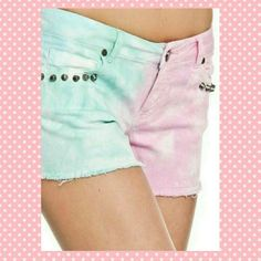 Romeo and Juliet Couture Shorts NWT many sizes! Sssuuuuper cute shorts by Romeo and Juliet Couture in Pink and mint with Brad detailing.  I have these in several sizes. Interested?  I'll make a new listing for you! Romeo & Juliet Couture Shorts Jean Shorts