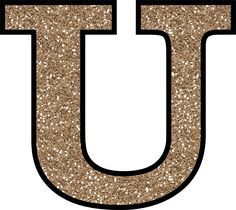 Glitter Without The Glue! Free Digital Printable Alphabet to Download: Glitter Letter U