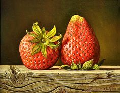 Two Strawberries by Alexander Selytin