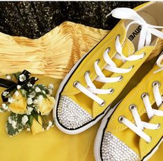 Dress from promgirl.com converse from eBay add clear crystals to toes Follow more on Instagram@firewifemay Bling Converse, Converse Style, Clear Crystal, Formal Wear, To My Daughter, Crystals, How To Wear, Dress, Ebay