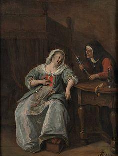 De zieke vrouw, ca. 1660-1670