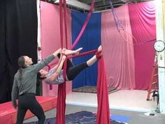 I can do these beginner aerial silks moves except the last one at 3 mins 10, which I'm currently learning. Flamingo arabesque (from a gazelle position).
