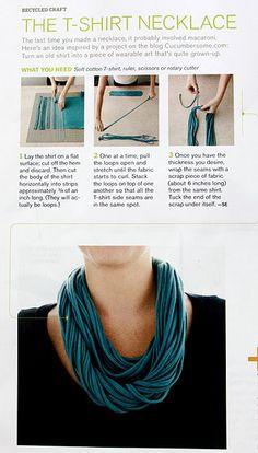 tshirt necklace