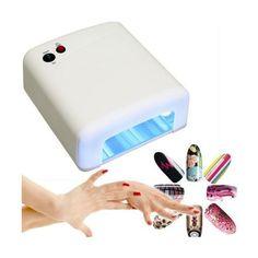 Auction everything you want: Lampara UV secador de uñas Seca perfectamente las uñas, el tamaño que tiene permite utilizarla correctamente para las manos como también para los pies.
