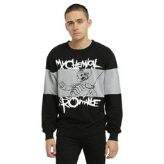 Hot Topic My Chemical Romance The Black Parade Sweatshirt ($43) ❤ liked on Polyvore featuring men's fashion and men's clothing