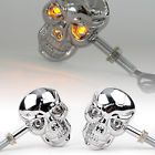 ♯» 2x #Chrome Universal Motorcycle Skeleton #Head Skull #Light Turn Signals Indicator http://ebay.to/2e9mb7R
