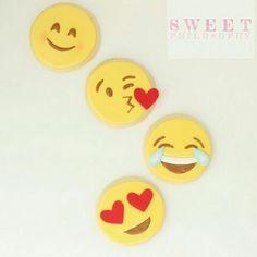 Emoji sugar cookies featured in #torontostar #weddingbellsmagazine
