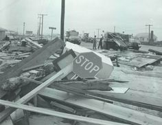 81st and Ocean ( Baltimore Sun photo by A. Aubrey Bodine / April 5, 1962 ) This is 81st and Ocean Highway after the 1962 flood in Ocean City.