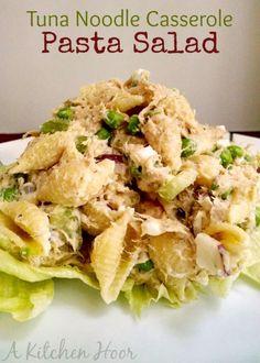 Tuna Noodle Casserole Pasta Salad