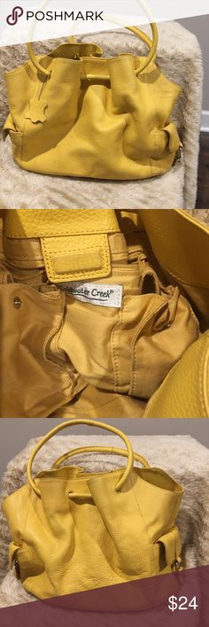 Coldwater Creek Leather Hobo Bag Yellow Preowned Coldwater Creek Leather Hobo Bag   Color: Yellow   Preowned Condition   Buy it now   Bundle and save   Offers welcome Coldwater Creek Bags Hobos