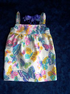 Butterfly Sundress - Fits 18 inch dolls by AuntSissyOriginals on Etsy