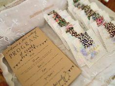 Wedding program of events