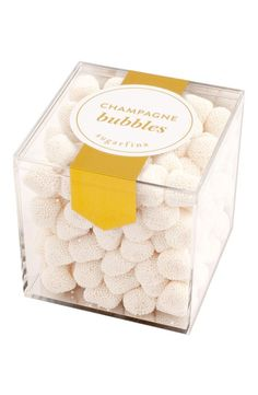 Can't wait to try these champagne bubble candies. They're popping with fun, sophisticated flavor.