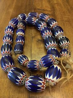 Full Strand Gorgeous 6 Layer Antique Chevron Trade Beads Chevron, Fur Trade, African Trade Beads, Ethnic Jewelry, Black Cross Body Bag, 4th Of July Wreath, Layers, Etsy Shop, Antiques
