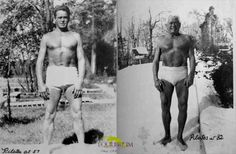 Joseph Pilates at 57 and 82! Body looks exactly the same! Just think what Pilates can do for you!