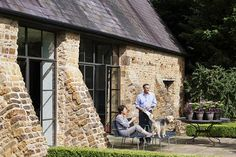 Love the Crittal windows, colour included and interiors Barn Conversion Exterior, Barn Conversions, Dorset Cottages, Cottage Extension, Garage Apartment Plans, London Townhouse, Barn Renovation, House Windows, Metal Windows