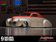 """9 days until Auction Week! The #PratteCollection is filled to the brim with award-winning cars, like this custom all-steel Lincoln Zephyr 3-window coupe. It was nationally selected by Goodguys and judged winner of """"America's Most Beautiful"""" Street-Rod award. » http://j.mp/SD15_Lot2517 #PratteCollection #BarrettJackson #Auction #auto #Streetrod #vintage #American #beautiful"""