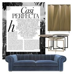 """Royal Blue"" by sofaandchair ❤ liked on Polyvore featuring interior, interiors, interior design, home, home decor, interior decorating and Whiteley"