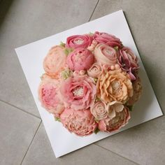 Korea 3D flower cake