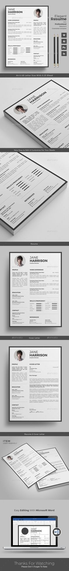 Resume Template \/ CV Template Cv template, Resume cv and Simple - template for resume word