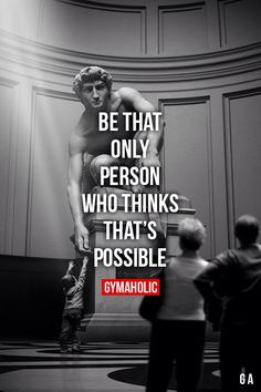 Be That Only Person Who Thinks That's Possible Anything is possible, you just have to believe in yoursel Sport Motivation, Fitness Motivation Quotes, Workout Motivation, Fitness Inspiration Quotes, Motivation Inspiration, Success Quotes, Life Quotes, Motivational Quotes, Inspirational Quotes