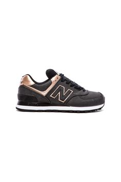 New Balance 574 Precious Metals Collection Sneaker in Charcoal | REVOLVE
