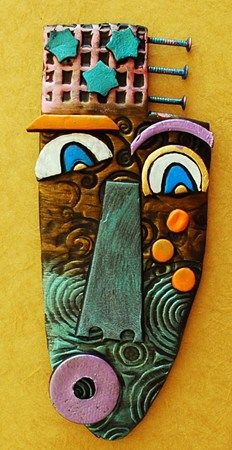 Jacket Colors Cantrell inspired Clay faces  Use found objects, packaging, paint, etc. to make mixed media pieces inspired by Cantrell