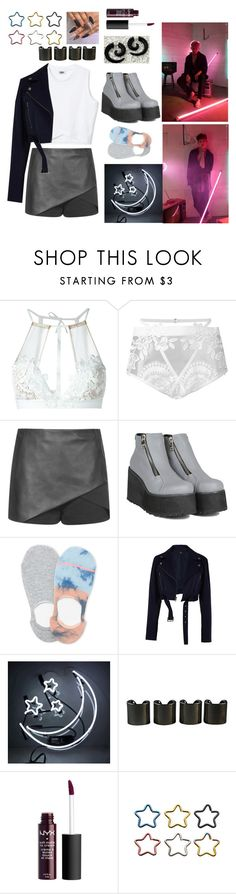 """""""The Clan Monsta X."""" by weirdo-of-the-week666 ❤ liked on Polyvore featuring For Love & Lemons, Topshop, Lemon, TIBI and 8 Other Reasons"""