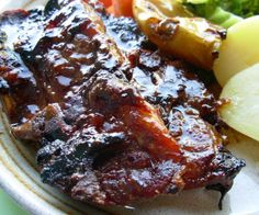 I love to cook pork like this. I have also used this marinade with pork chops. I have adapted this from Lean and Loving It.