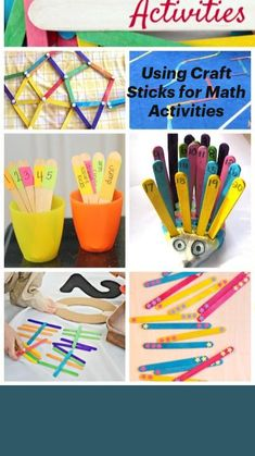 Counting Games, Kindergarten Readiness, Toddler Preschool, Craft Stick Crafts, Craft Activities, Learning, Fun, Studying, Teaching