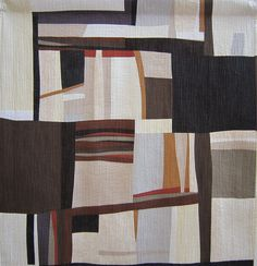A quilt made by Verena Friske during workshops with Nancy Crow in Faler, Switzerland.
