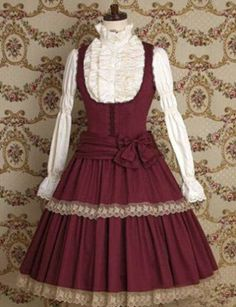 Wine-Red-Sweet-Gothic-Victorian-Maiden-Long-Sleeve-Cosplay-Lolita-Dress-Costume