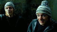 Harry Potter Jk Rowling, Oliver Phelps, Weasley Twins, Fantastic Beasts, Winter Hats, Bridge, Frozen, Google, Harry Potter Stuff