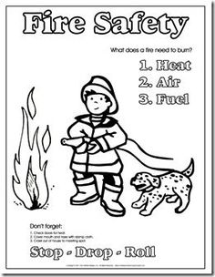 Fire Safety Printables | Fire safety coloring sheet ...